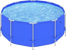 vidaXL Swimming Pool with Steel Frame 367x122 cm