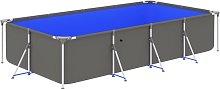 vidaXL Swimming Pool with Steel Frame 394x207x80