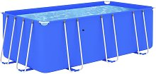 vidaXL Swimming Pool with Steel Frame 400x207x122