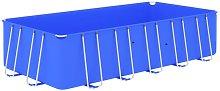 vidaXL Swimming Pool with Steel Frame 540x270x122