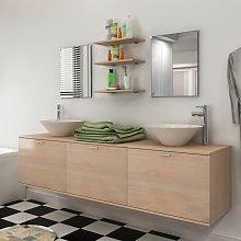 vidaXL Ten Piece Bathroom Furniture Set with Basin