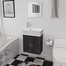 vidaXL Three Piece Bathroom Furniture and Basin