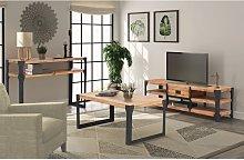 vidaXL Three Piece Living Room Furniture Set Solid