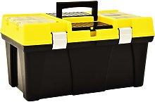 vidaXL Tool Box Plastic 595x337x316 mm Yellow