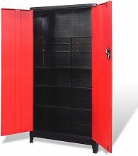 vidaXL Tool Cabinet with 2 Doors Steel 90x40x180