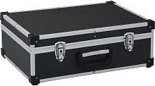 vidaXL Tool Suitcase 46x33x16 cm Black Aluminium