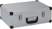 vidaXL Tool Suitcase 46x33x16 cm Silver Aluminium