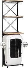 vidaXL Tractor Wine Cabinet White 49x31x170 cm