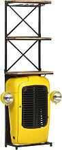 vidaXL Tractor Wine Cabinet Yellow 49x31x170 cm
