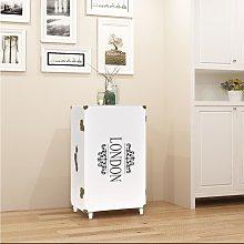 vidaXL Trunk Side Cabinet 40x30.5x81 cm White