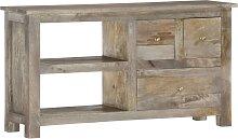 vidaXL TV Cabinet 110x30x55 cm Solid Mango Wood