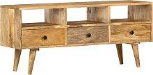 vidaXL TV Cabinet 110x36x50 cm Solid Mango Wood