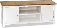 vidaXL TV Cabinet 120x35x48 cm Solid Oak Wood