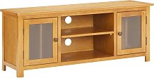 vidaXL TV Cabinet 120x35x48 cm Solid Oak Wood