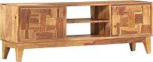 vidaXL TV Cabinet 130x30x45 cm Solid Sheesham Wood