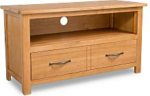 vidaXL TV Cabinet 90x35x48 cm Solid Oak Wood