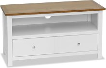 vidaXL TV Cabinet 90x35x48 cm Solid Oak Wood