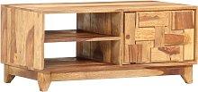 vidaXL TV Cabinet 90x45x40 cm Solid Sheesham Wood