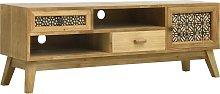 vidaXL TV Cabinet Carving Brown 120x30x42 cm Wood