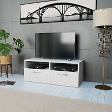 vidaXL TV Cabinet Chipboard 95x35x36 cm White