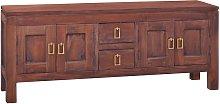 vidaXL TV Cabinet Classical Brown 110x30x45 cm