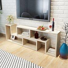 vidaXL TV Cabinet Double L-Shaped Oak