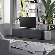 vidaXL TV Cabinet Grey 120x34x30 cm Chipboard