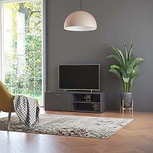 vidaXL TV Cabinet Grey 120x34x37 cm Chipboard