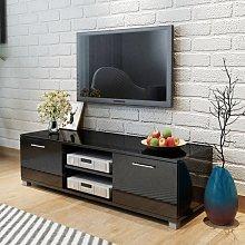 vidaXL TV Cabinet High-Gloss Black 120x40.3x34.7 cm