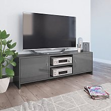 vidaXL TV Cabinet High Gloss Grey 120x30x37.5 cm