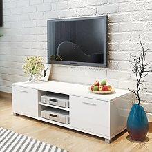 vidaXL TV Cabinet High-Gloss White 120x40.3x34.7 cm