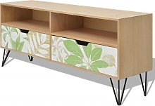 vidaXL TV Cabinet MDF 120x30x50 cm Brown