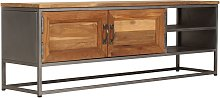 vidaXL TV Cabinet Recycled Teak and Steel