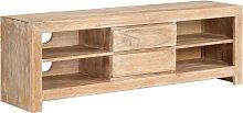 vidaXL TV Cabinet Solid Acacia Wood 120x30x40 cm