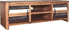 vidaXL TV Cabinet Solid Acacia Wood 120x35x40 cm