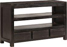 vidaXL TV Cabinet Solid Acacia Wood 90x30x55 cm