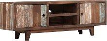 vidaXL TV Cabinet Solid Acacia Wood Vintage