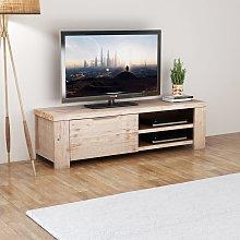 vidaXL TV Cabinet Solid Brushed Acacia Wood
