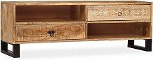 vidaXL TV Cabinet Solid Mango Wood 120x30x40 cm