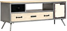vidaXL TV Cabinet Solid Mango Wood and Steel