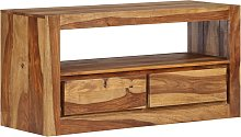 vidaXL TV Cabinet Solid Sheesham Wood 80x30x40 cm