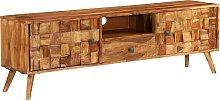 vidaXL TV Cabinet Solid Sheesham Wood with Honey