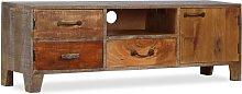 vidaXL TV Cabinet Solid Wood Vintage 118x30x40 cm