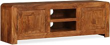 vidaXL TV Cabinet Solid Wood with Sheesham Finish