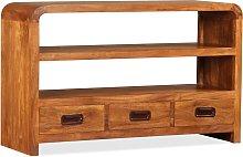 vidaXL TV Cabinet Solid Wood with Sheesham Finish