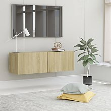 vidaXL TV Cabinet Sonoma Oak 100x30x30 cm Chipboard