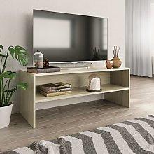 vidaXL TV Cabinet Sonoma Oak 100x40x40 cm Chipboard