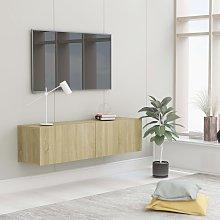 vidaXL TV Cabinet Sonoma Oak 120x30x30 cm Chipboard