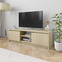 vidaXL TV Cabinet Sonoma Oak 120x30x35.5 cm