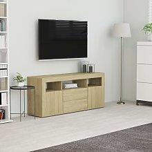 vidaXL TV Cabinet Sonoma Oak 120x30x50 cm Chipboard